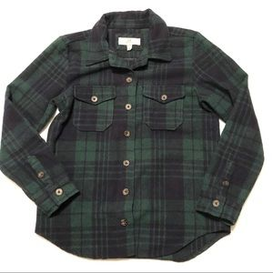 Thread & Supply Button Up Plaid Shirt Size M